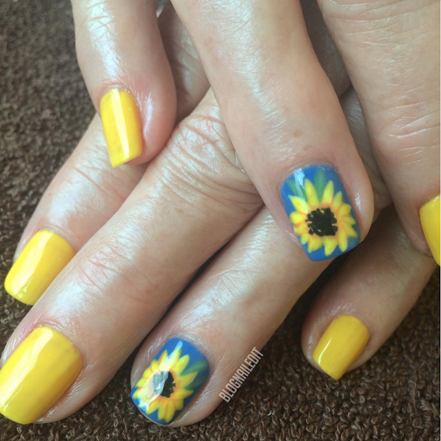 Sunflowers by Nailed It @ www.blognailedit.co