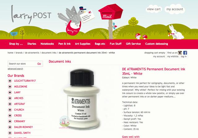 http://www.larrypost.com.au/brands/de-atramentis-1/permanent-inks/de-atramentis-permanent-document-ink-35ml-white.html