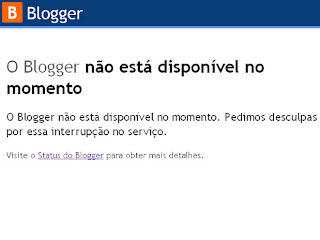 falha no blogger