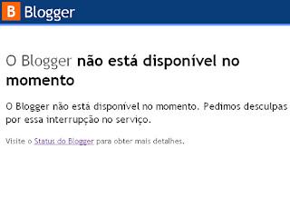 falha no blogger