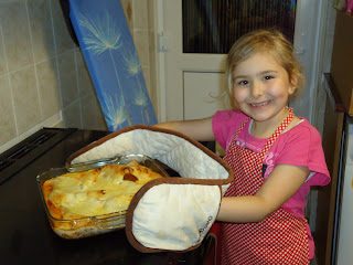 Top Ender having cooked a Lasagne
