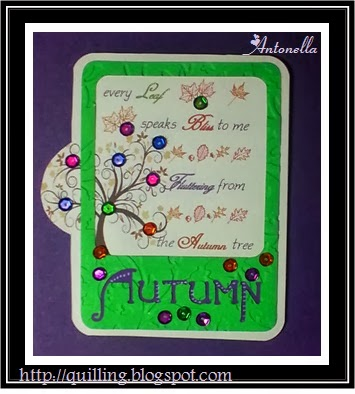 Antonella's Every Autumn Leaf Quote Card