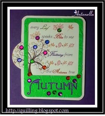 Antonella's Every Autumn Leaf Quote Card