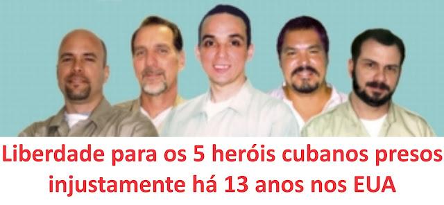 """""""PRISÃO DE CINCO CUBANOS NOS EUA É UMA FARSA JUDICIAL"""""""