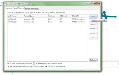 Click New emulator