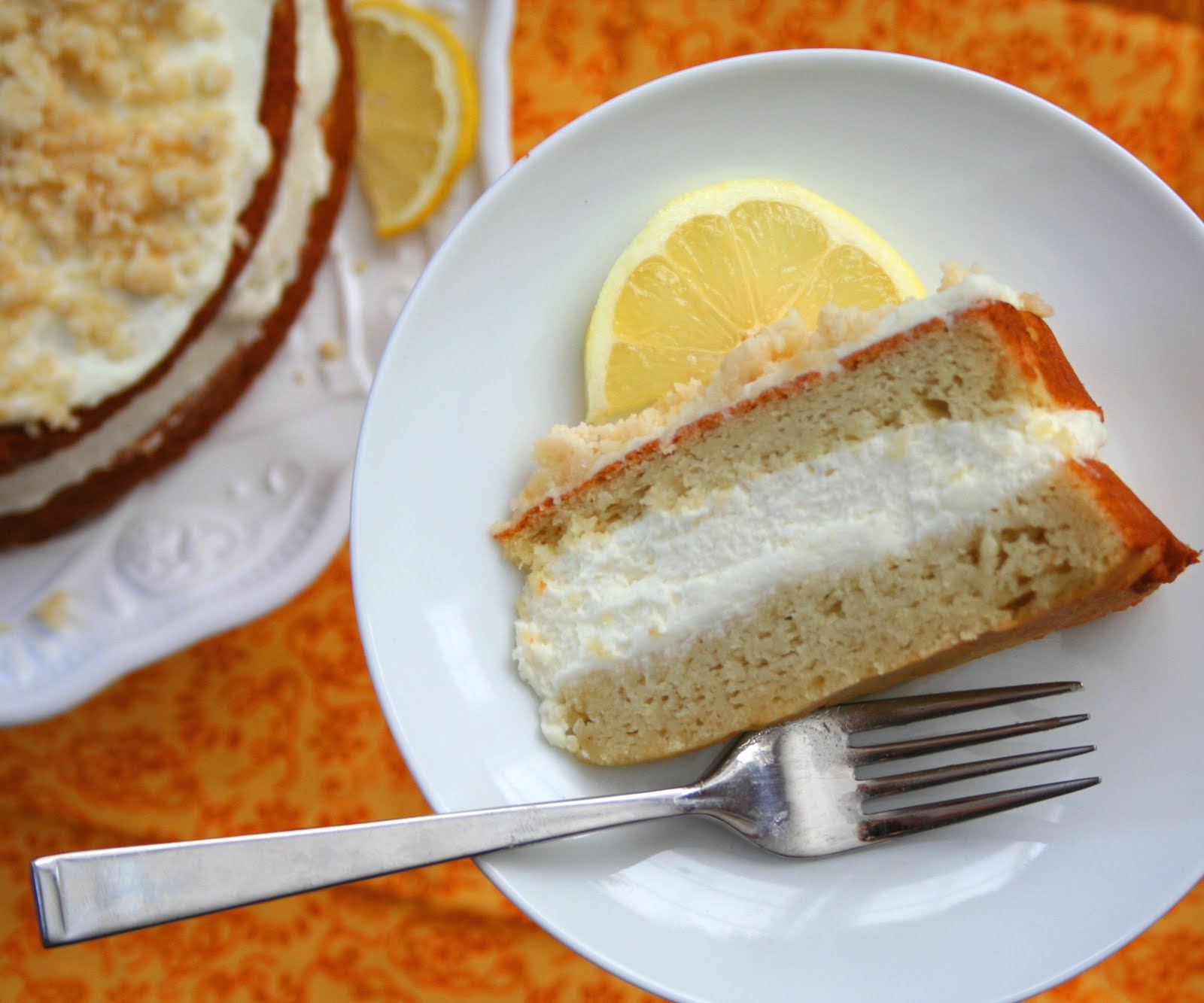 lemon cream cake low carb and gluten free all day i dream about food. Black Bedroom Furniture Sets. Home Design Ideas