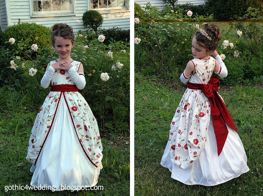 tying the romantic wedding dresses in with your Gothic wedding theme