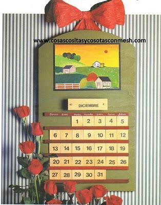 Como hacer nuestro propio calendario cositasconmesh for Calendario manualidades