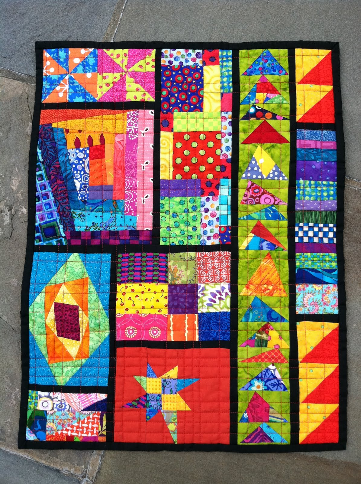 The red headed mermaid a start a finish and some news for Modern house quilts
