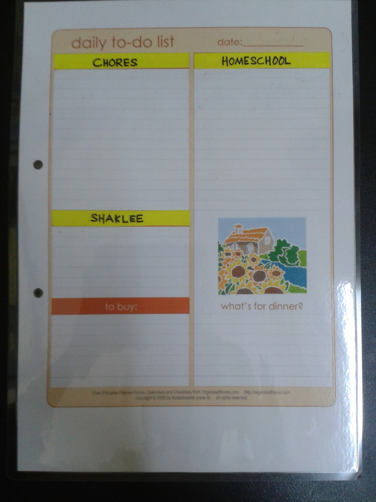 Mama Homeschool: My Planner for 2013.