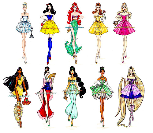 hayden williams fashion illustrator walt disney characters drawings sketches illustrations
