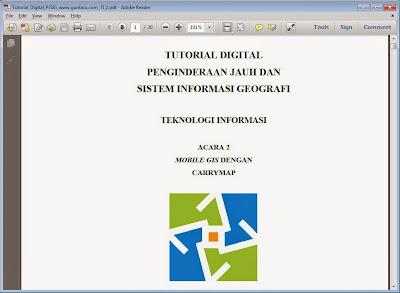 Teknologi Mobile GIS dengan CarryMap www.guntara.com