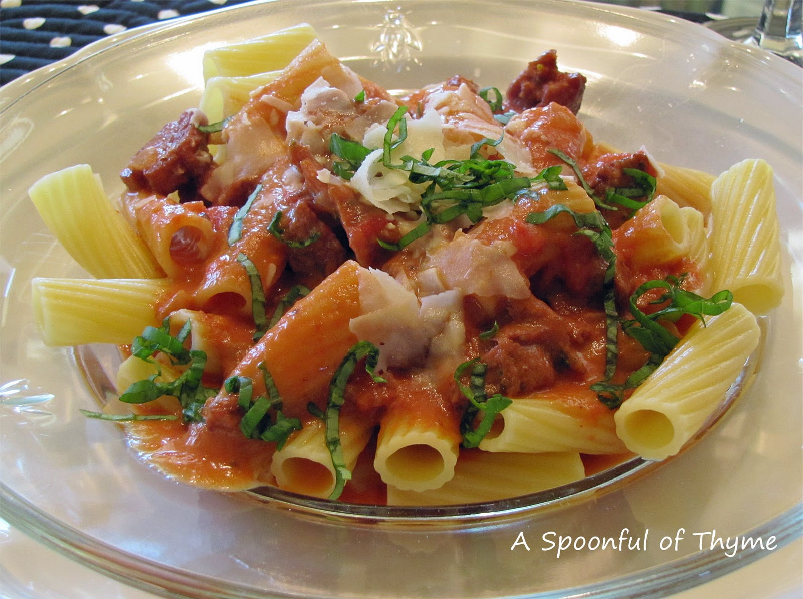 sausage baked ziti with spicy pork and sausage ragu recipes dishmaps ...
