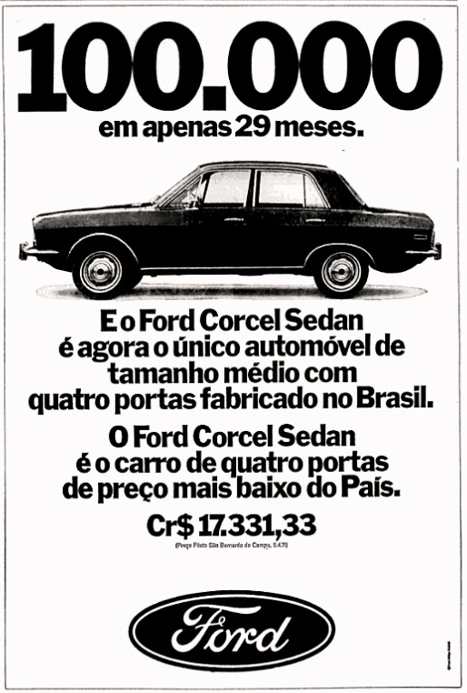 brazilian cars ads in the 70's; os anos 70; história da década de 70; Brazil in the 70s; propaganda carros anos 70; Oswaldo Hernandez;