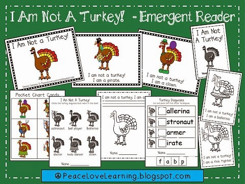 "Funny Thanksgiving Emergent Reader that is great to use with your ""Disguise a Turkey"" project."