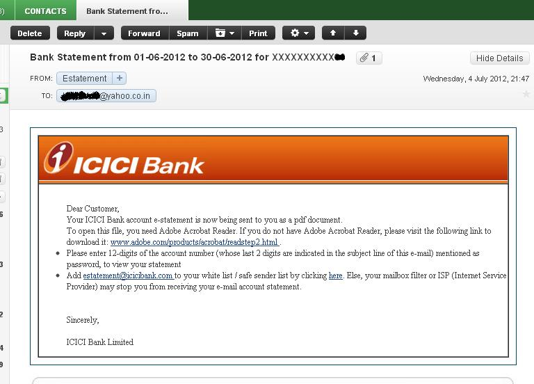 how to add other bank account in icici internet banking