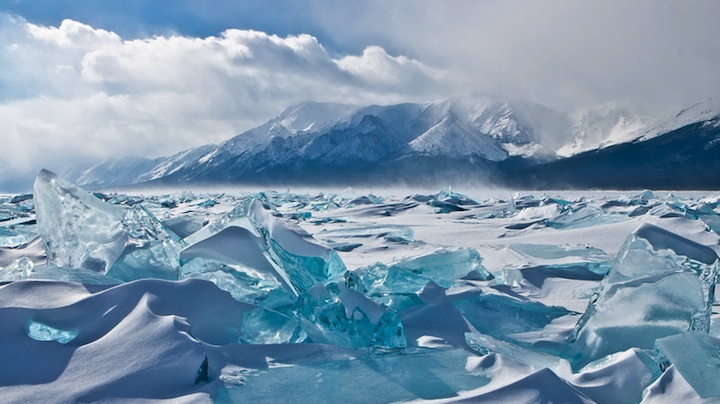Baikal Russia  city pictures gallery : amazing Turquoise Ice at Northern Lake Baikal, Russia, ice formation