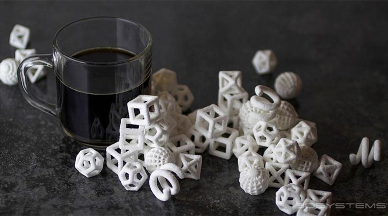 Geométricamente Dulce: Las impresiones 3D de cubos de azúcar están aquí
