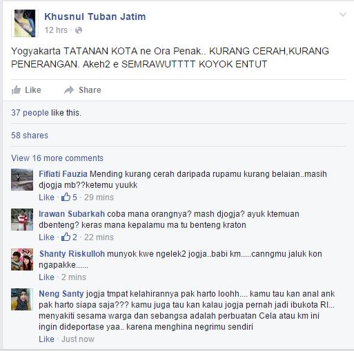status%2B2%2BKhusnul%2BTuban%2BJatim Jogja Semrawut versi Dek Khusnul  wallpaper