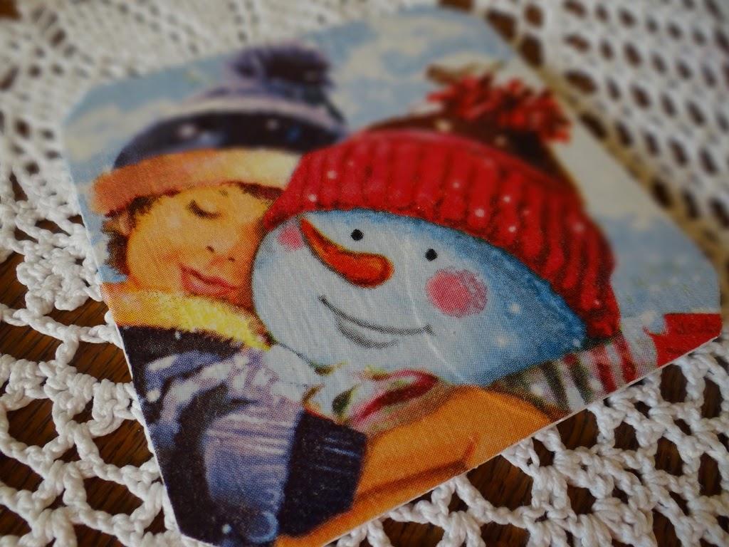 podkładki pod kubek, zima, Boże Narodzenie, dekoracje świąteczne