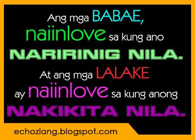 Ang mga babae naiinlove sa kung ano naririnig nila.