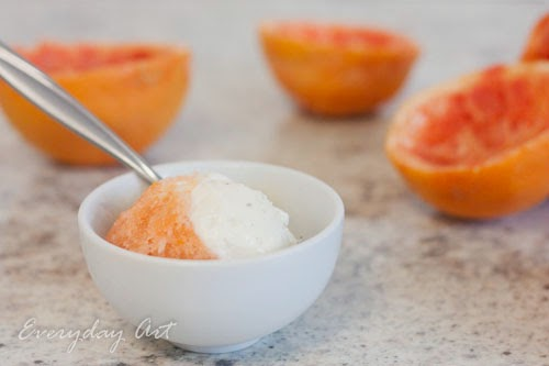 Grapefruit Creamsicle Ice Cream
