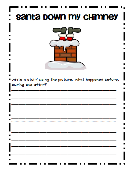 When Santa Got Stuck Up the Chimney Handwriting Practice Activity Sheet