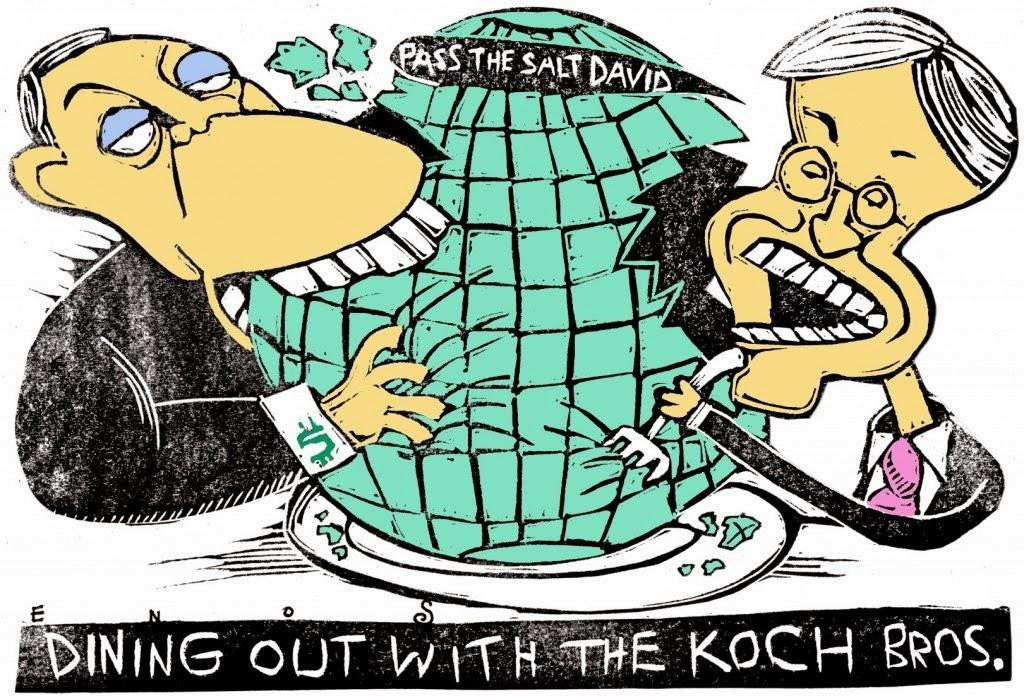 Randall Enos: Dining Out With The Koch Brothers.