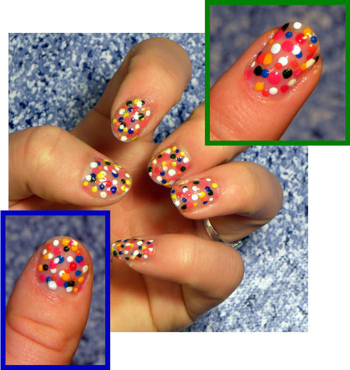 Quixii\'s Nails: 3/11/2011 - Katy Perry Sprinkle Nails