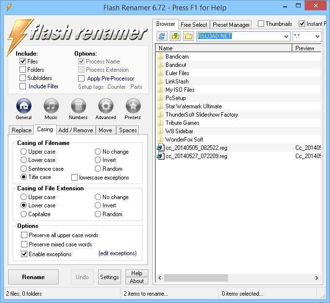 flash renamer 6.73 crack