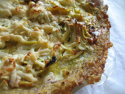Artichoke Tart with Polenta Crust and Fresh Rosemary