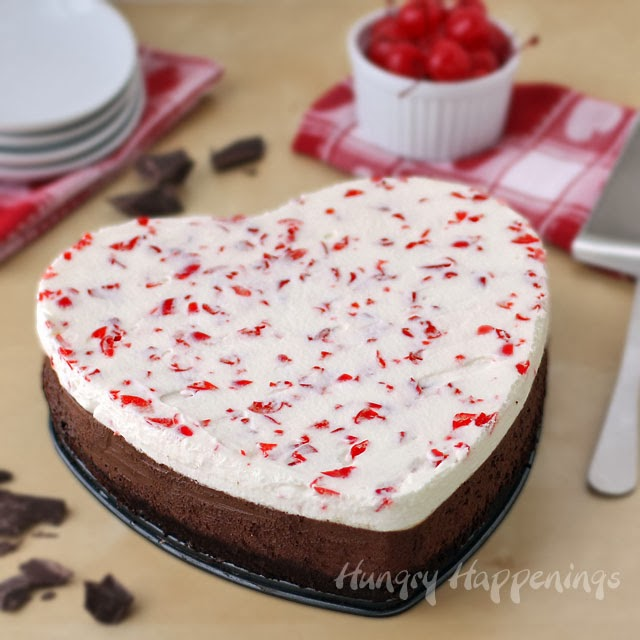 Chocolate Cherry Mousse Cake | HungryHappenings.com
