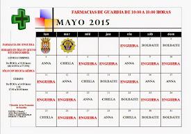 FARMACIAS DE GUARDIA MAYO 2015