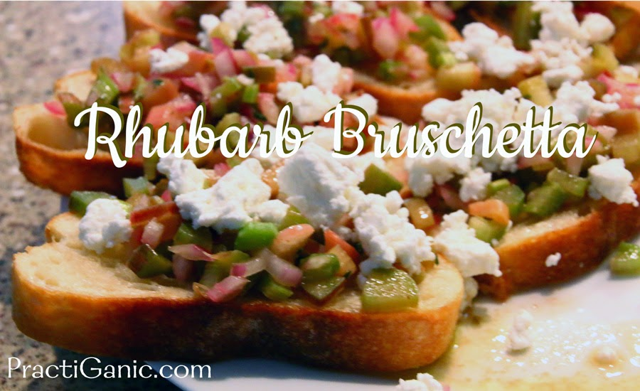 Rhubarb Bruschetta with Goat Cheese
