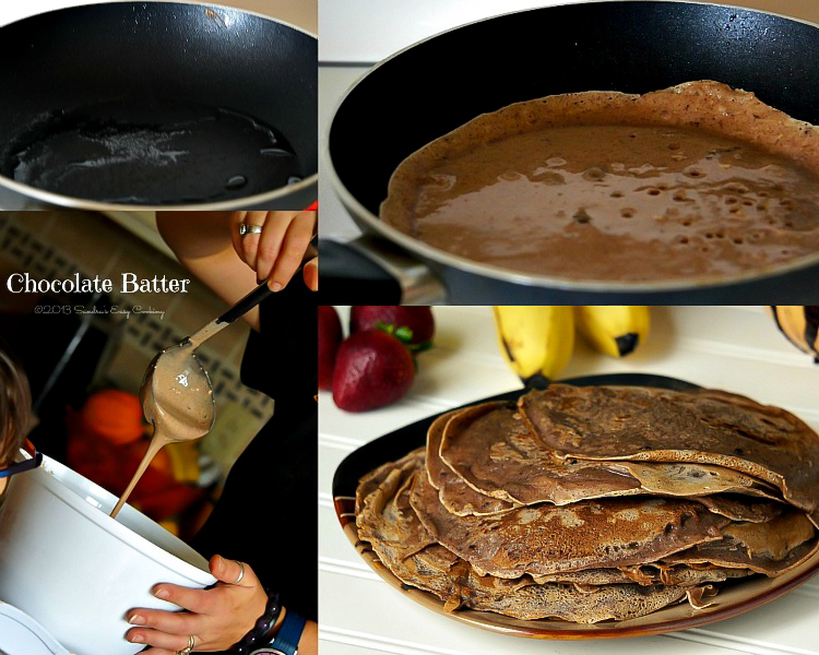 Chocolate Crepes With Strawberries Recipe — Dishmaps