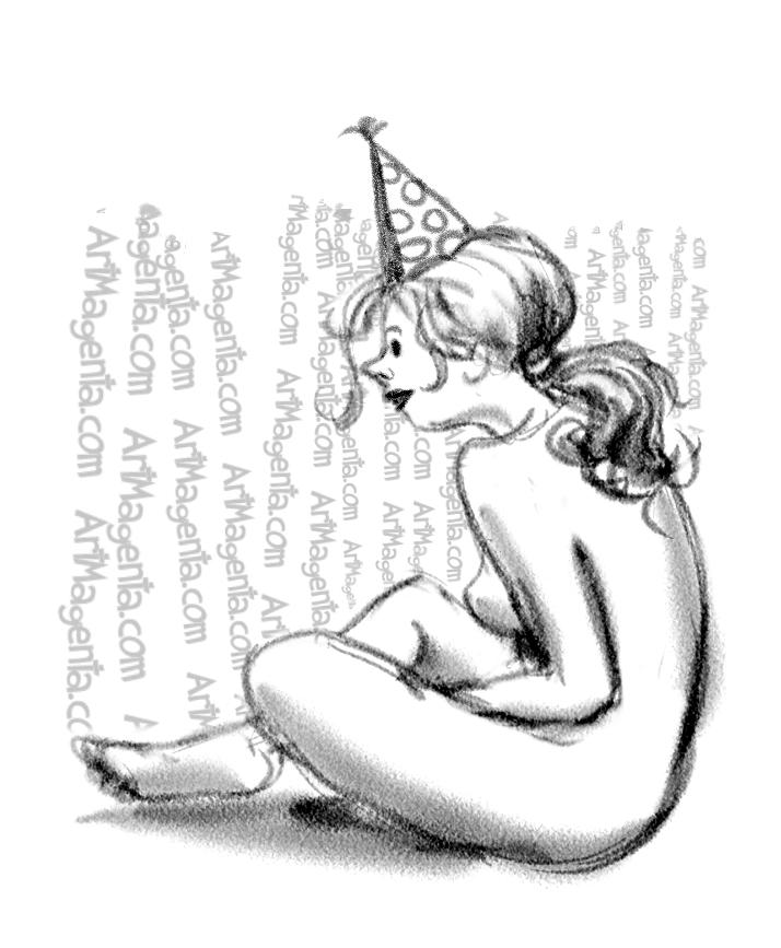 Figure drawing greeting card by Artmagenta.