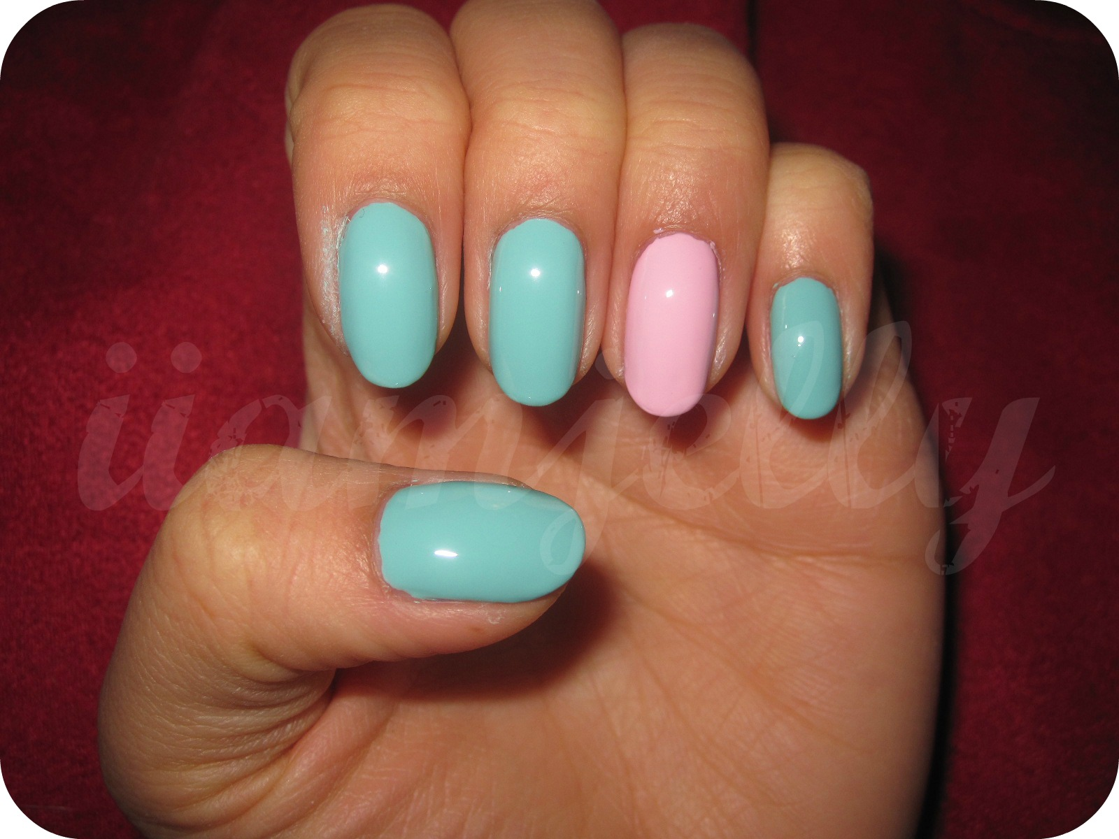 Oval nails design tumblr