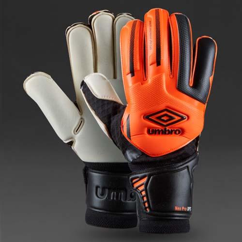 UMBRO,NEO,PRO,DPS,GK,GLOVES,GOALIE,GOALKEEPING,SHOCKING,ORANGE,BLACK