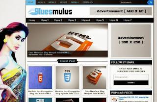 Bluesmulus Blogger Template