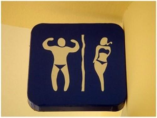 Baños Publicos Originales:Funny Toilet Signs Bathroom