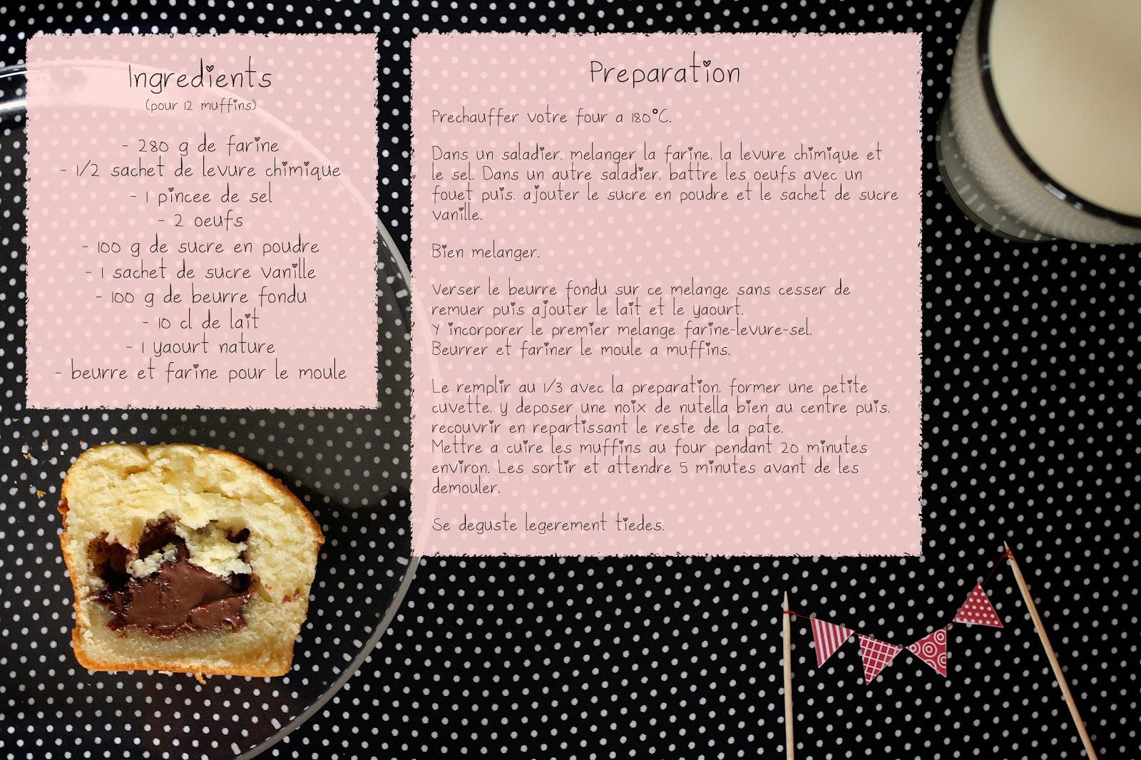 mufine Recette+muffin+coeur
