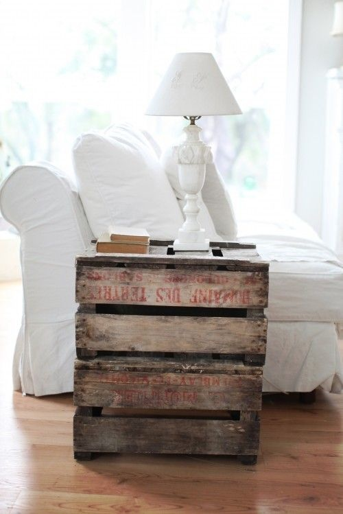 Multi pallet nightstand purpose used wood pallet for Nightstand ideas