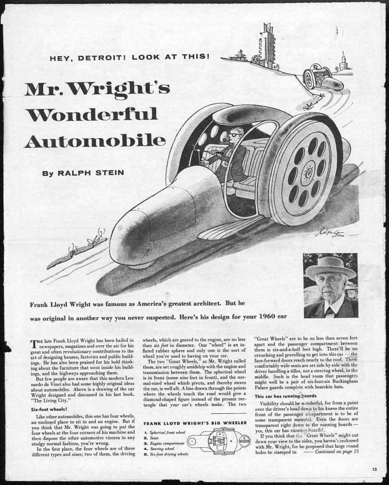 the automobile and american life  frank lloyd wright and