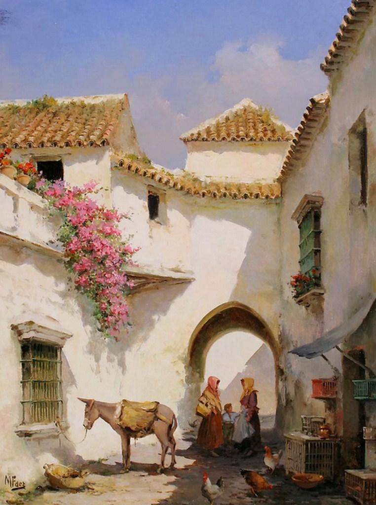 Cuadros modernos pinturas y dibujos casas y paisajes for Cuadros pintados al oleo