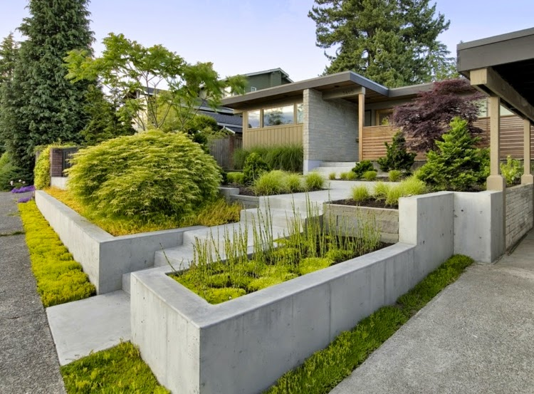 Front garden design pictures and examples of welcoming for Landscape design examples