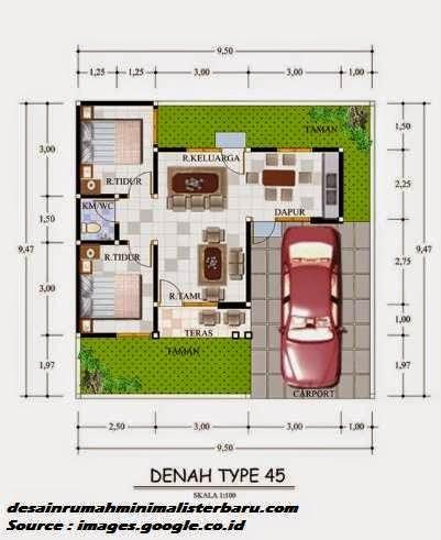 desain rumah minimalis type 45 9