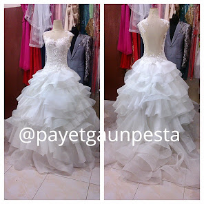 Gaun Pengantin Backless Organza