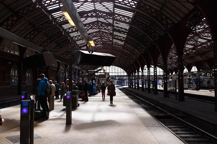コペンハーゲン中央駅のホーム