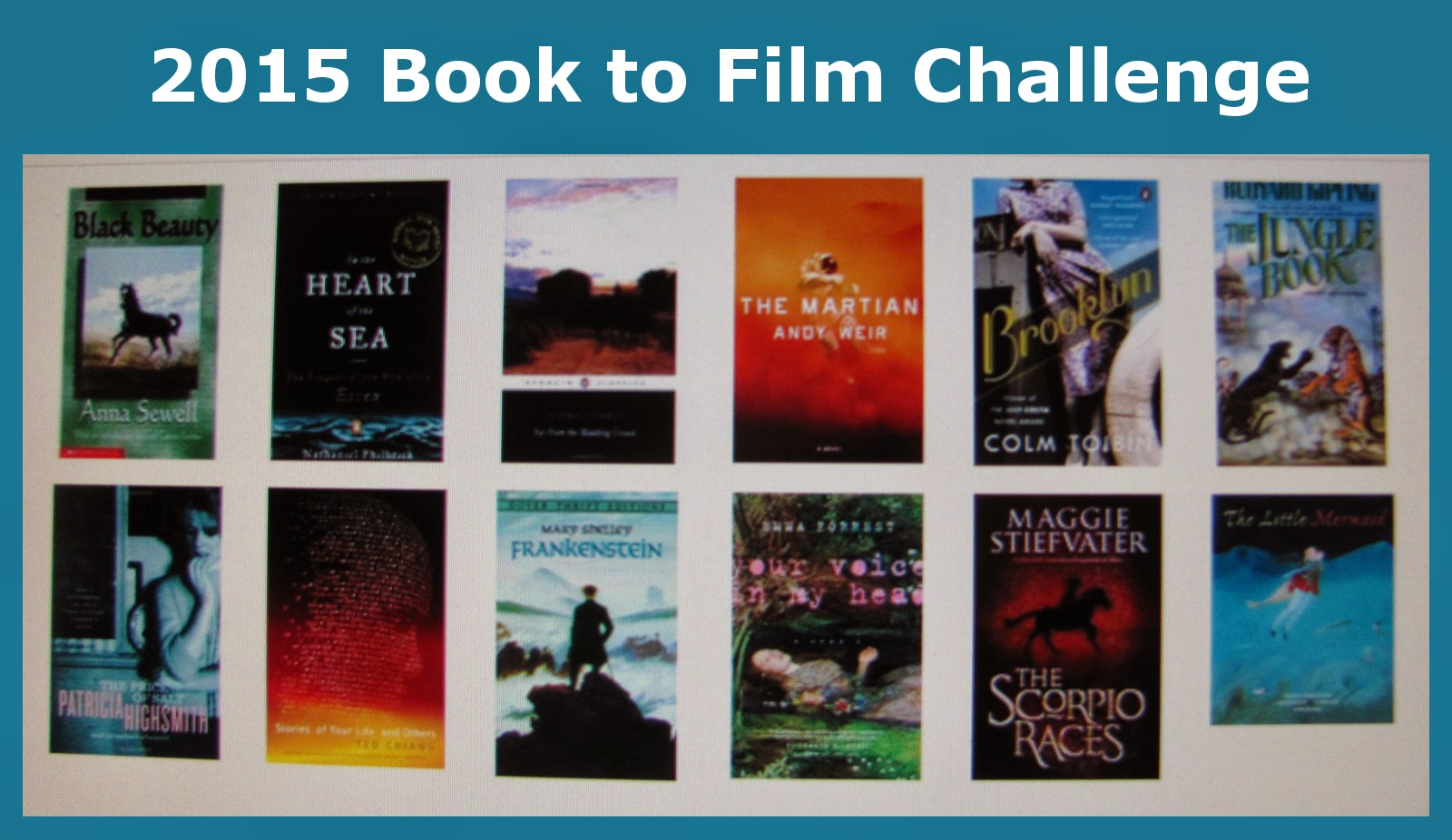 2015 Book to Film Challenge