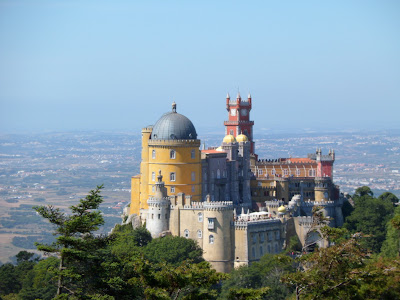 Palcacio da Pena in the Sintra mountains